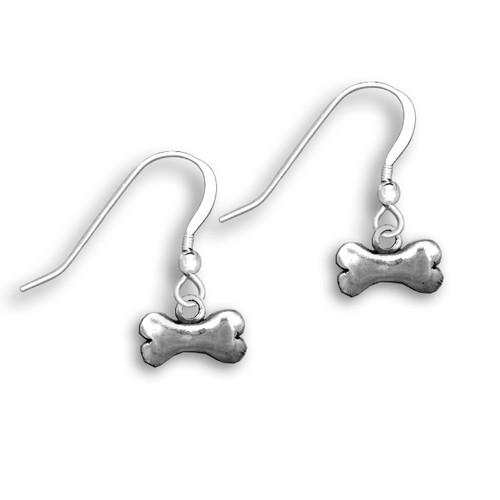 Sterling Silver Dog Bone Earrings