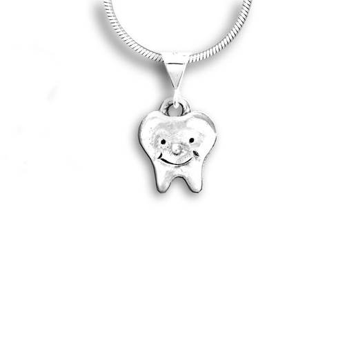 Sterling Silver Smiling Tooth Pendant