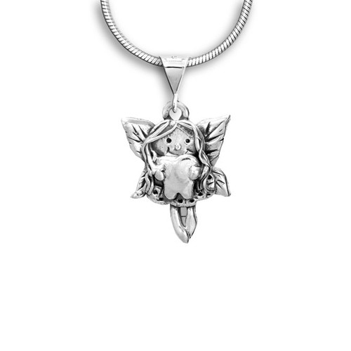 Sterling Silver Tooth Fairy Pendant