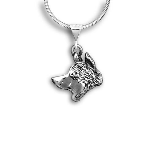 Sterling Silver Husky Pendant