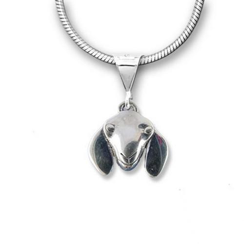 Sterling Silver Nubian Goat Pendant