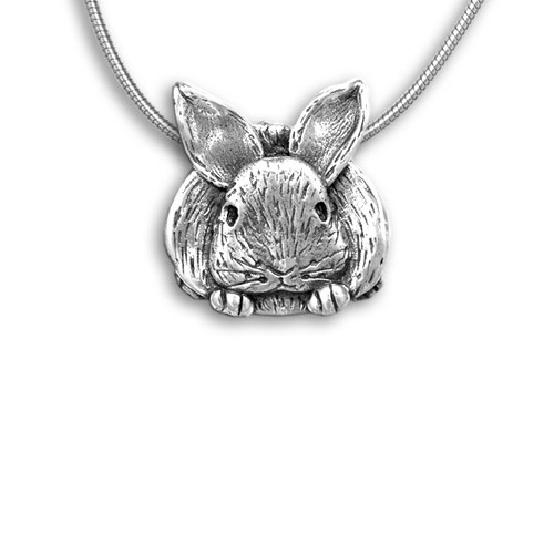 Sterling Silver Bunny Pin Pendant