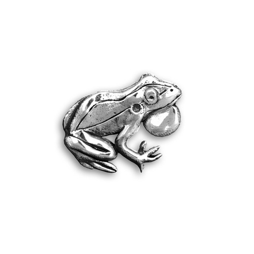 Sterling Silver Frog Pin