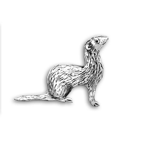 Sterling Silver Ferret Pin