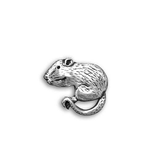 Sterling Silver Rat Pin