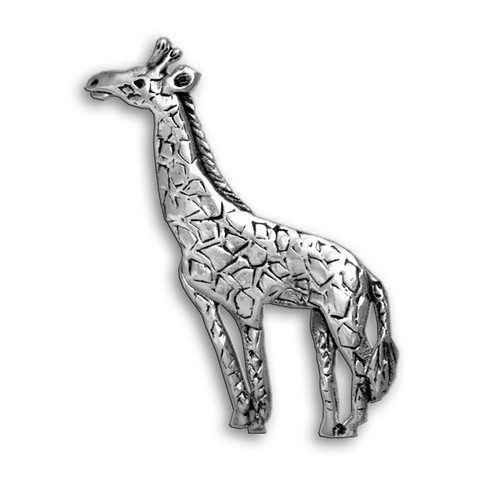 Sterling Silver Giraffe Pin