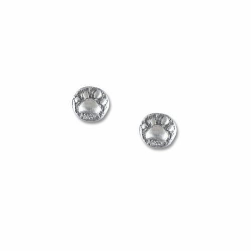 Sterling Silver Paw Print Post Earrings