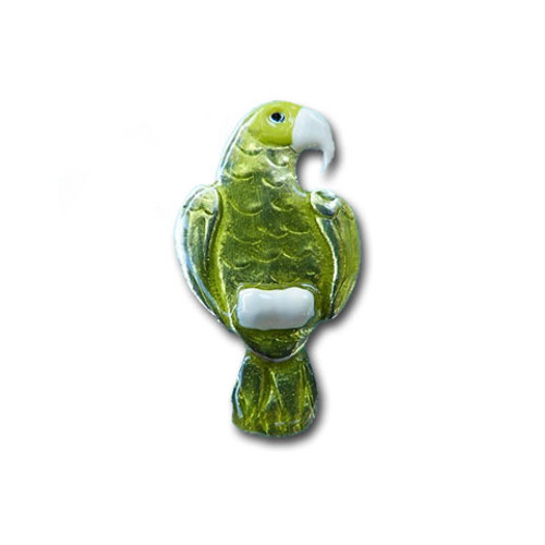 Enamel Green Amazon Parrot Pin