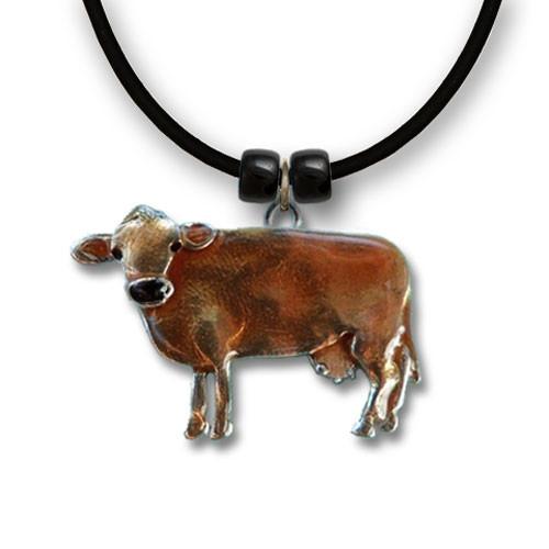 Enamel Jersey Cow Large Necklace