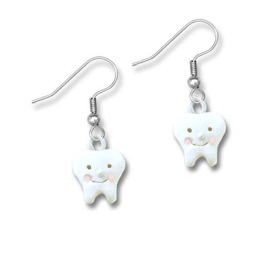 Enamel Teeth Earrings
