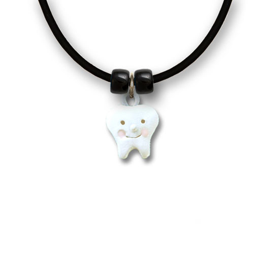 Enamel Tooth Necklace