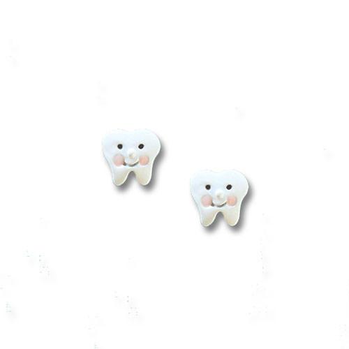 Enamel Teeth Post Earrings