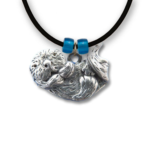 Pewter Large Sea Otter Necklace