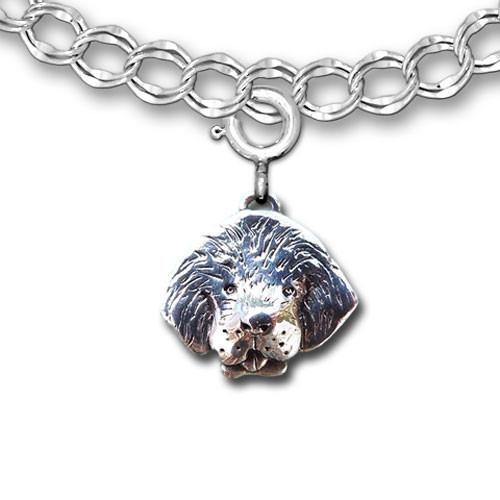 Sterling Silver Newfoundland Dog Charm