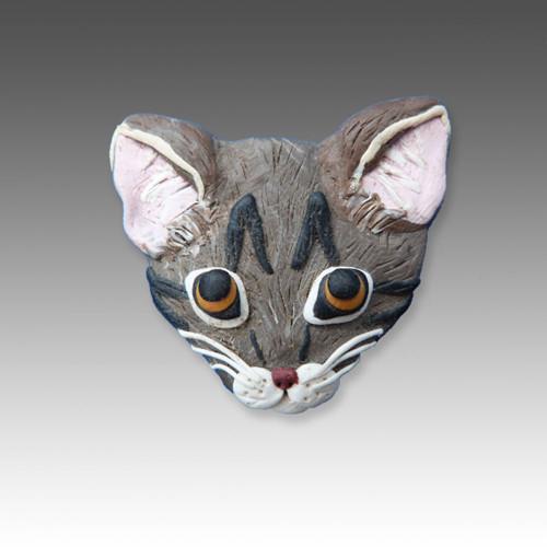 Custom Polymer Clay Pin with One Animal
