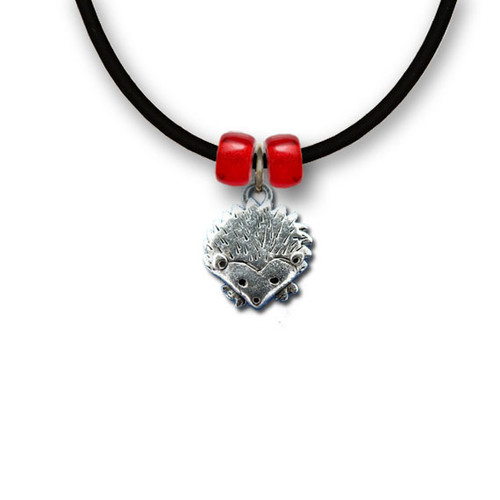 Pewter Hedgehog Necklace