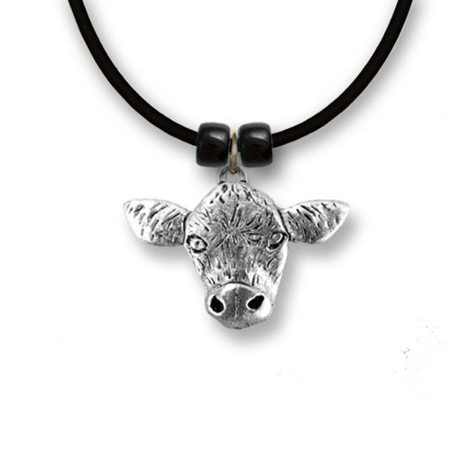 Pewter Angus Cow Necklace
