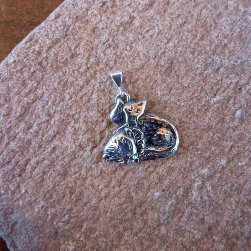 Sterling Silver Ferret Angel Pendant