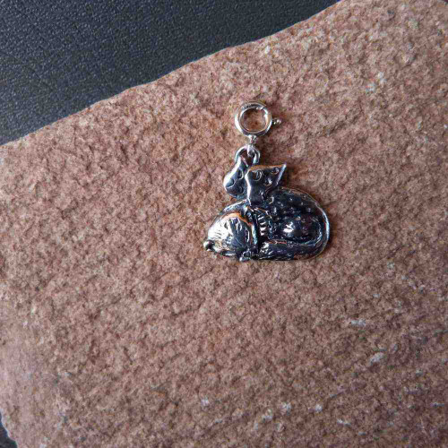 Sterling Silver Ferret Angel Charm