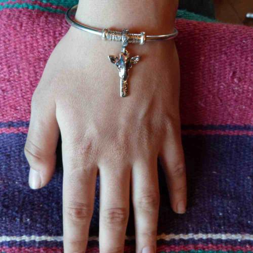 Pandora Style Giraffe Charm Bracelet
