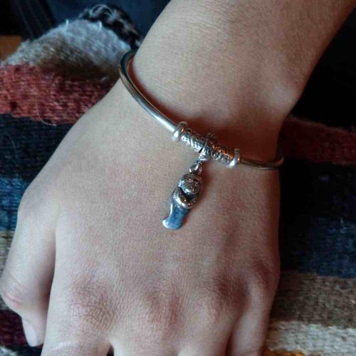 Pandora Style Manatee Charm Bracelet