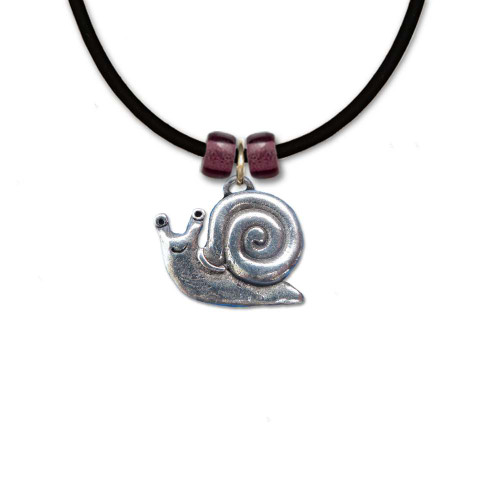 Pewter Snail Necklace
