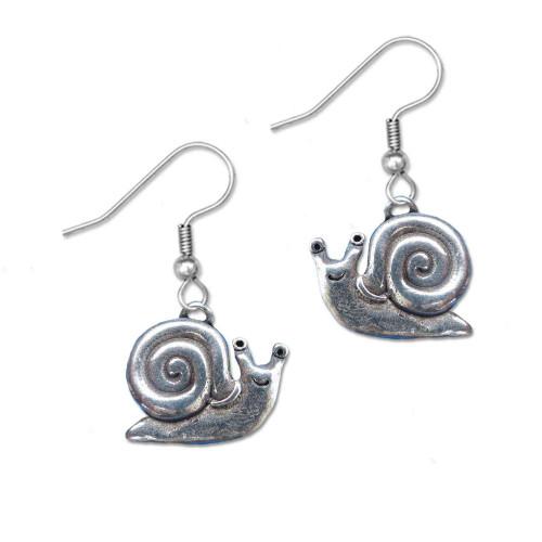 Pewter Snail Earrings
