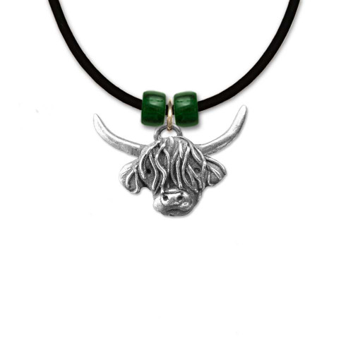 Pewter Highland Cow Necklace