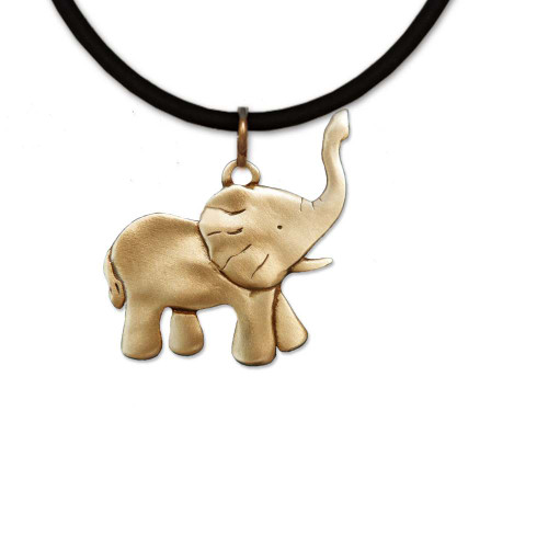 Bronze Elephant Full Body Necklace