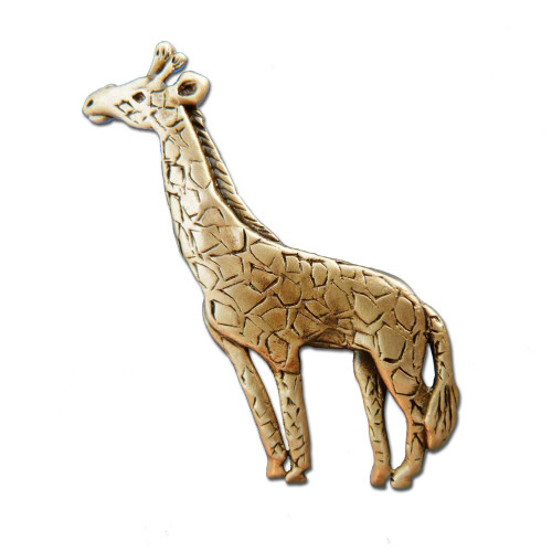 Bronze Giraffe Pin