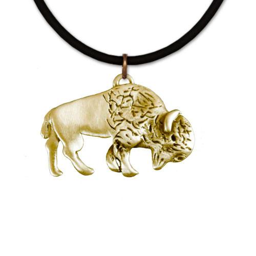 Bronze Bison necklace