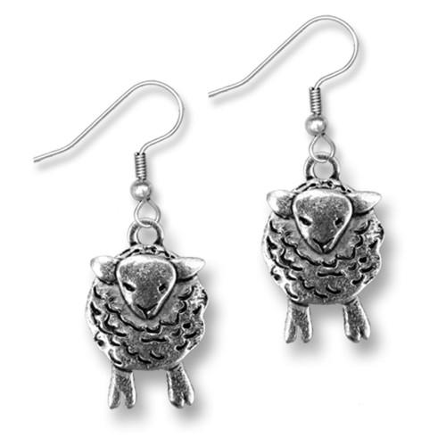 Pewter Sheep Earrings