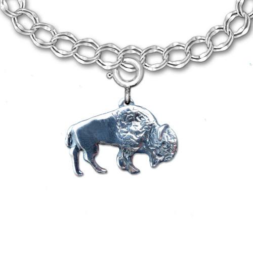 Sterling Silver Bison Charm