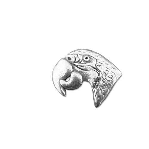 Pewter Macaw Lapel Pin