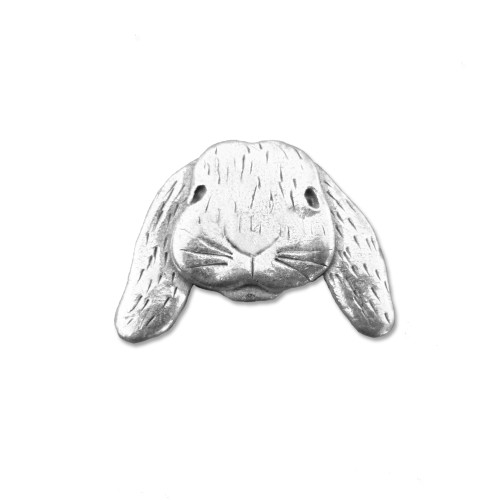 Pewter Lop Eared Bunny Lapel Pin