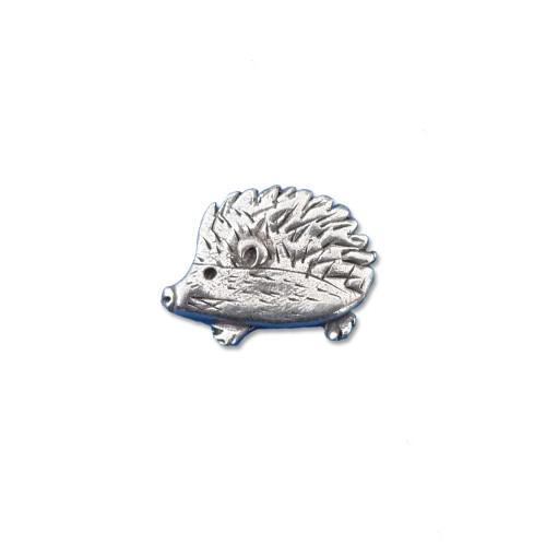 Pewter Hedgehog Lapel Pin
