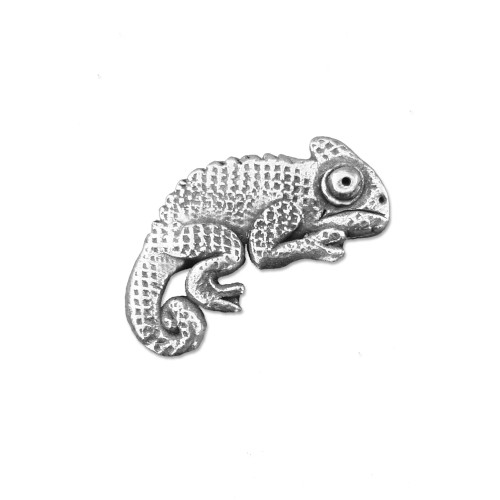 Pewter Chameleon Lapel Pin