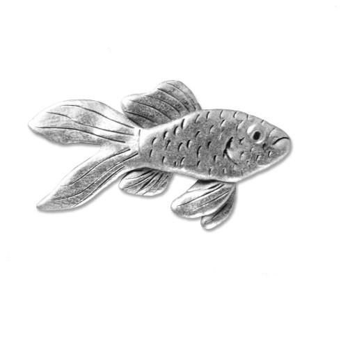 Pewter Goldfish Lapel Pin