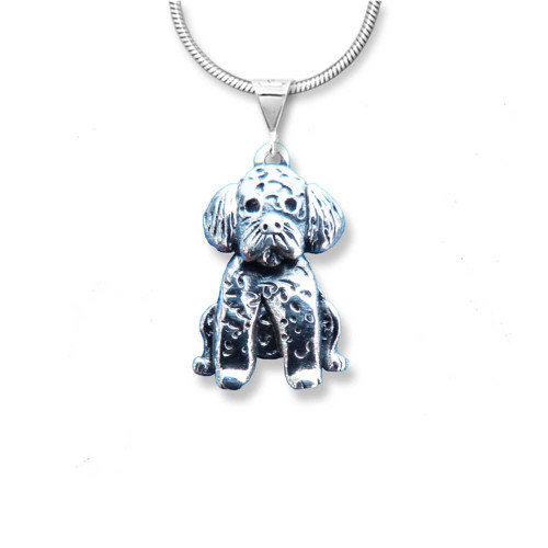 Sterling silver Portuguese Water Dog Pendant