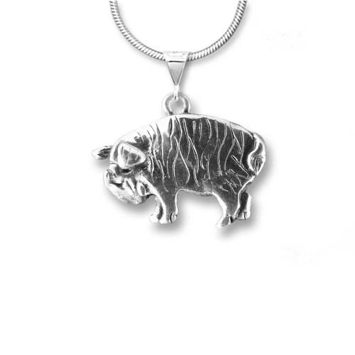Sterling Silver Kunekune Pig Pendant