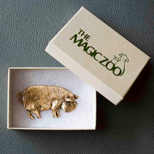 Bronze KuneKune Pig Pin