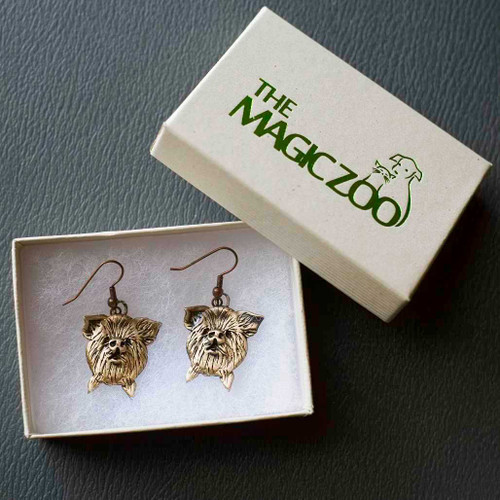 Bronze KuneKune Pig Face Earrings