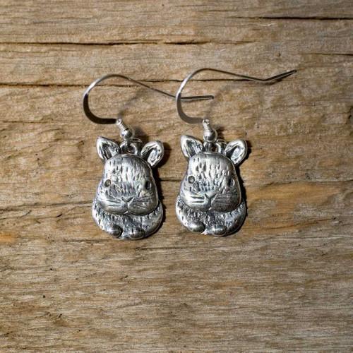 Sterling Silver Small Netherland Dwarf Rabbit Earrings