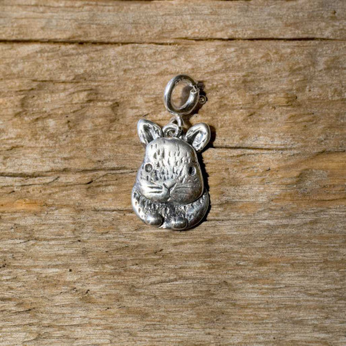 Sterling Silver Small Netherland Dwarf Rabbit Charm