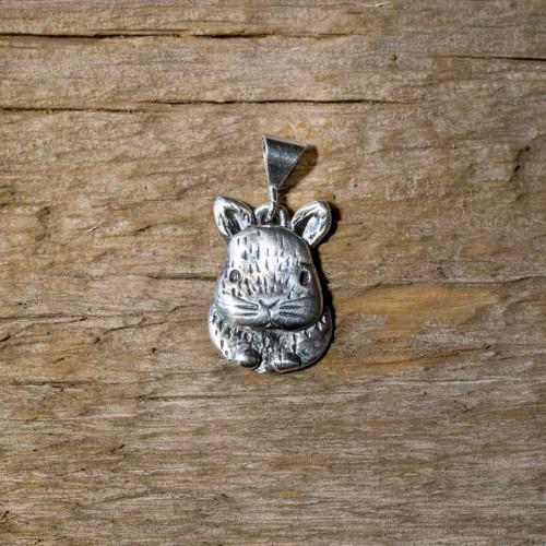 Sterling Silver Small Netherland Dwarf Rabbit Pendant