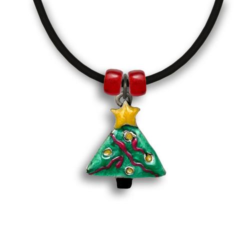 Enamel Christmas Tree Necklace