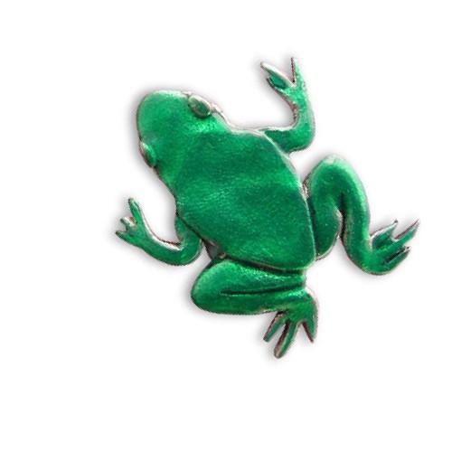 Enamel Green Frog Pin