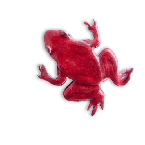 Enamel Red Frog Pin
