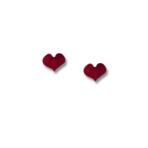 Enamel Valentine Red Heart Post Earrings