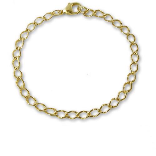 """14k Solid Gold Charm Bracelet - 7.5"""""""